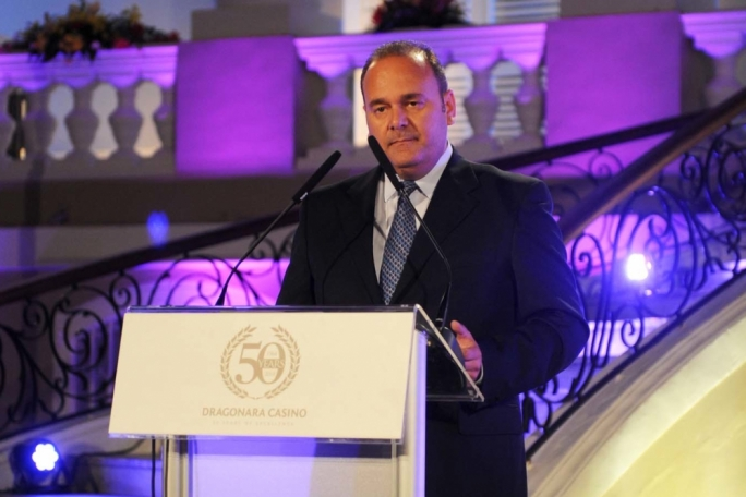 Minister Chris Cardona addressed guests at the event