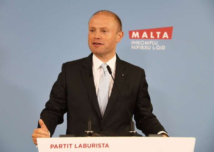 Joseph Muscat was addressing party faithful during an event in Mosta on Sunday