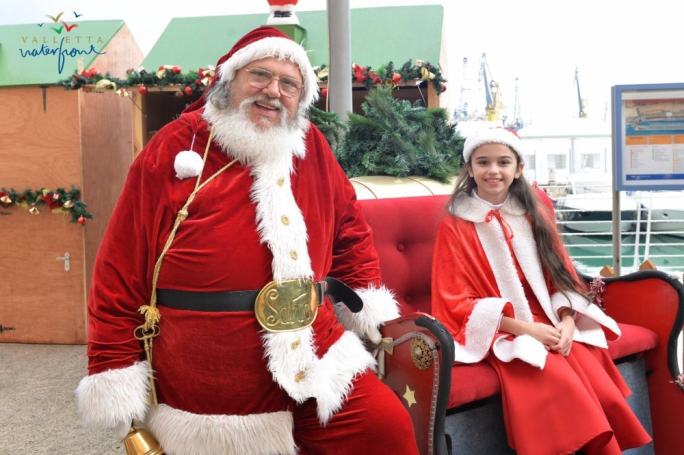 Father Christmas at Valletta Waterfront Christmas Village 2015!