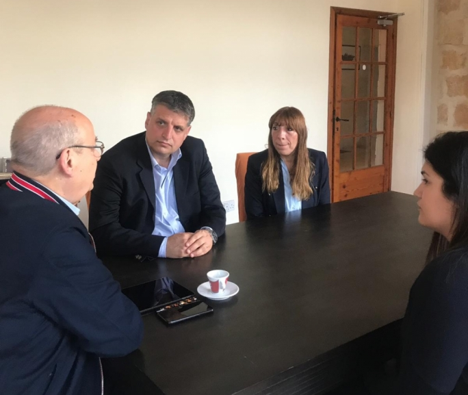 MEP Francis Zammit Dimech meeting with the Malta Diabetes Association.