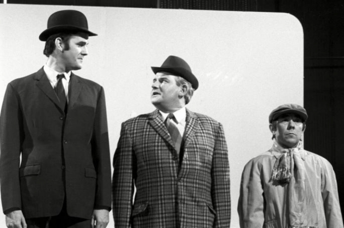 The famous 'Class' sketch broadcast in 1966 on the BBC's The Frost Report, featuring John Cleese and Ronnie Barker and Ronnie Corbett