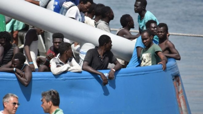 About 650 migrants were rescued and brought to the Italian port of Catania on Saturday