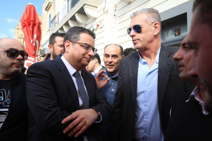 Adrian Delia at a PN activity in Siggiewi: the PN leader has not denied accepting financial support from construction companies involved in major projects