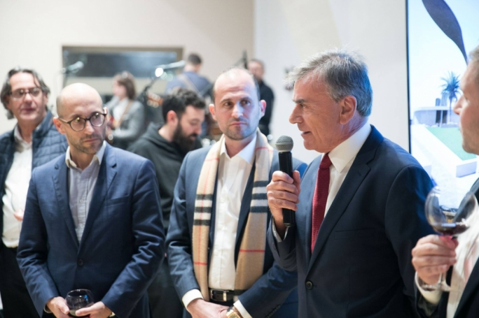 On the cusp of success: DF Advocates' Jean Carl Farrugia (left) and Kevin Deguara, with Shoreline chairperson Ben Muscat