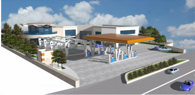 Artist's impression of the proposed fuel station along Mdina Road that was rejected by the PA on Thursday