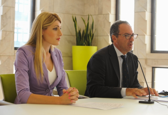 PN deputy leader Mario de Marco and Opposition MP Kristy Debono address a press conference