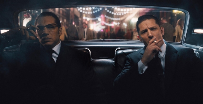 Krays anatomised: Tom Hardy does double duty as he takes on the role/s of the notorious London gangster siblings Reggie and Ronnie Kray