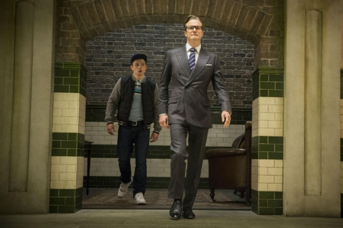 Colin Firth inducts Taron Egerton into the Kingsman programme