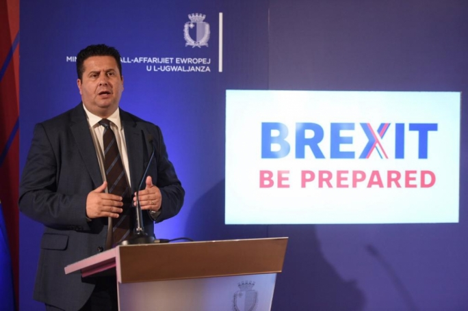 European Affairs minister Edward Zammit Lewis addressed a press conference on the government's preparedness for a no-deal Brexit on Tuesday. (Photo: James Bianchi/MediaToday)