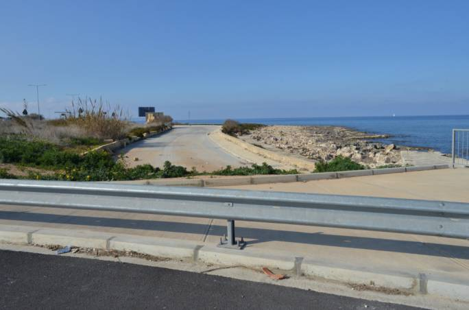 The stretch of the old Coast Road earmarked for a massive car park and private beach