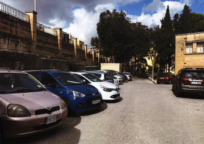 Multi-storey car-park beneath Hamrun school for 540 spaces