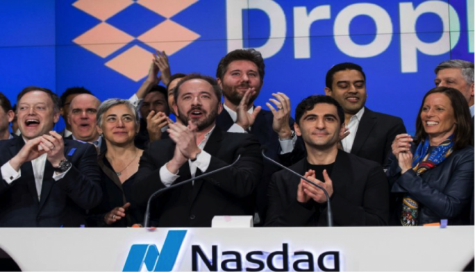 Dropbox jumped 36 percent in on its Nasdaq debut and Sinopec will pay a record dividend.