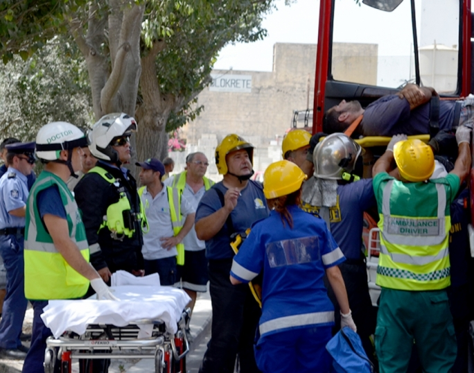 Cement mixer truck driver injured in Lija traffic accident