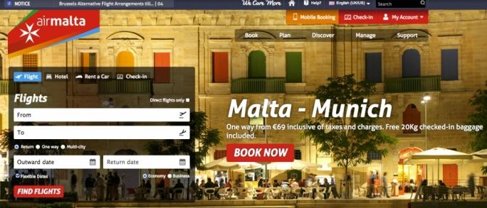 Air Malta launches website upgrades