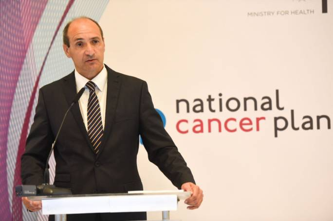 Health Minister Chris Fearne launched new national cancer plan (photo: James Bianchi/MediaToday)