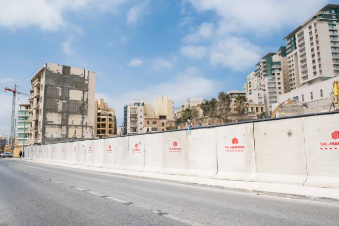 The site in Sliema owned by the Fortina Group