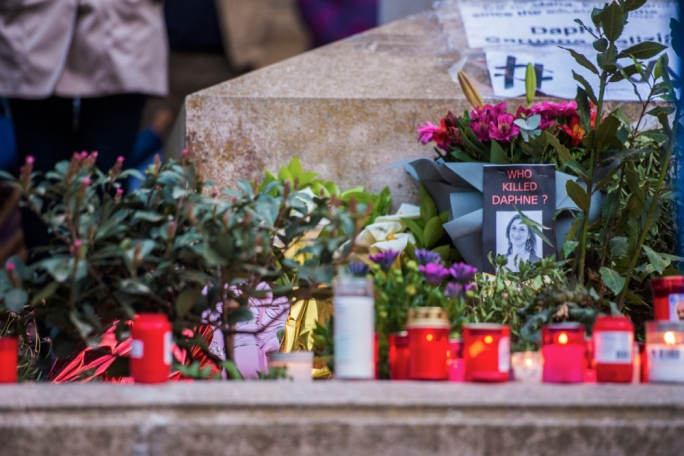 The press freedom organisations called for Daphne's memorial to be reinstated at the foot of the Great Siege monument