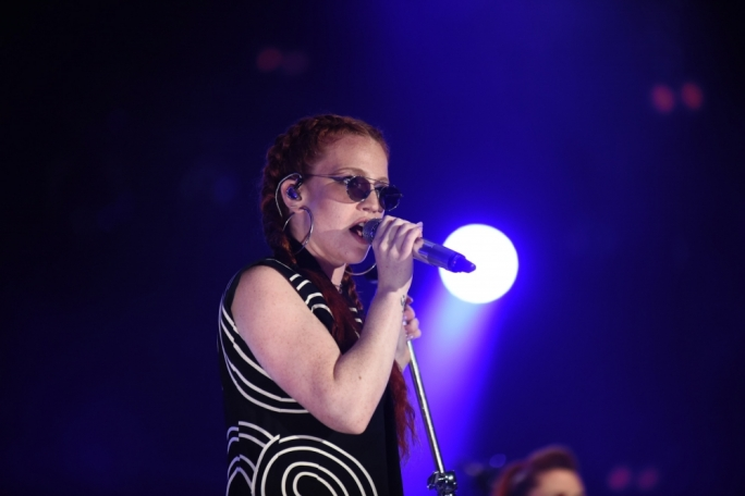 Jess Glynne performs at Isle of MTV . Photo:Chris Mangion