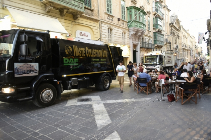 The Valletta 2018 Foundation expressed concern at the 'unacceptable state' of the garbage collection system in the capital (Photos: Chris Mangion)