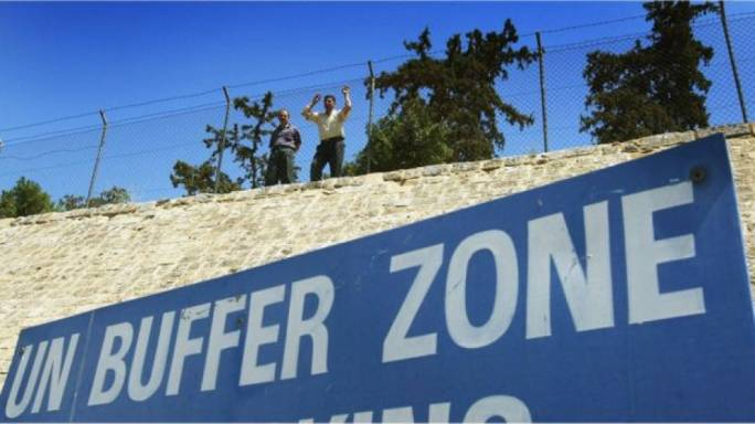 The buffer zone divides the Greek south of Cyprus from the Turkish north (Photo: Getty images)