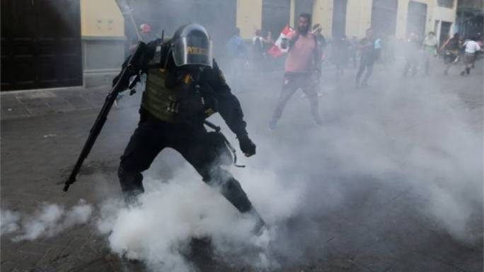 Police have fired tear gas and clashed with protestors (Photo: BBC News)