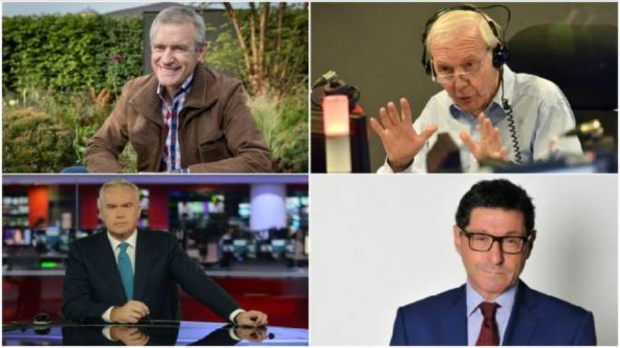 Jeremy Vine, John Humphrys, Jon Sopel and Huw Edwards have all agreed to the salary reduction (photo: BBC)
