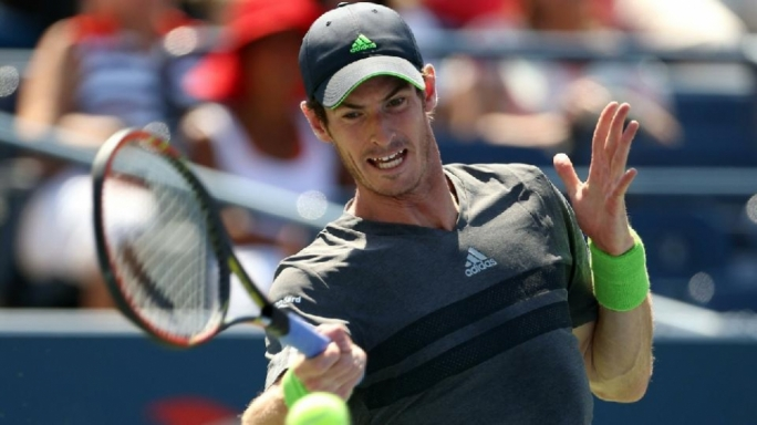 Andy Murray in action against Robin Haase in the first round of the US Open