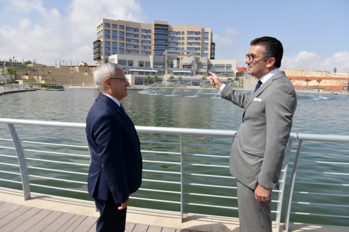 CEO Anthony P. Tabone meets Environment Minister Leo Brincat. Photo by Ray Attard