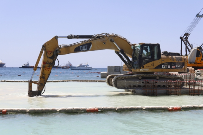 [WATCH] Work on Marsaxlokk breakwater underway
