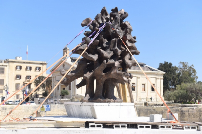 The monument was designed by sculptor Valerio Schembri (Photo: James Bianchi/MediaToday)