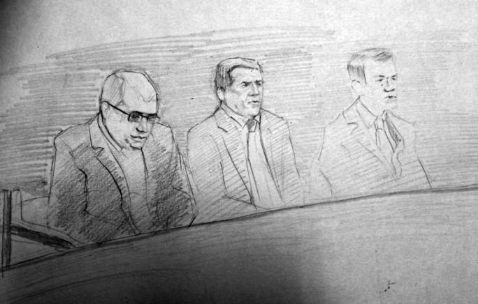 Sketch of the accused in the dock | Artist: Perit Eric Gerardi