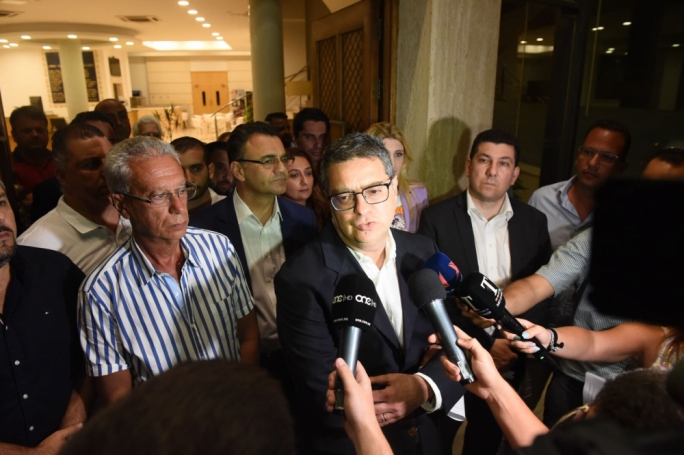 Adrian Delia addressing the press after a PN administrative council