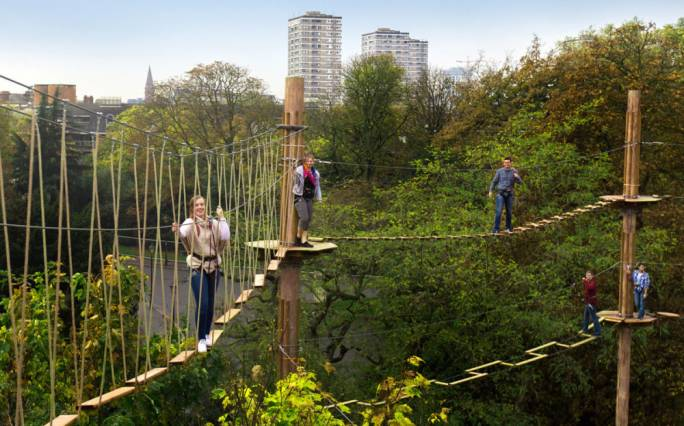 Take a breath of fresh air and hang around like a monkey at Go Ape in the greater London area