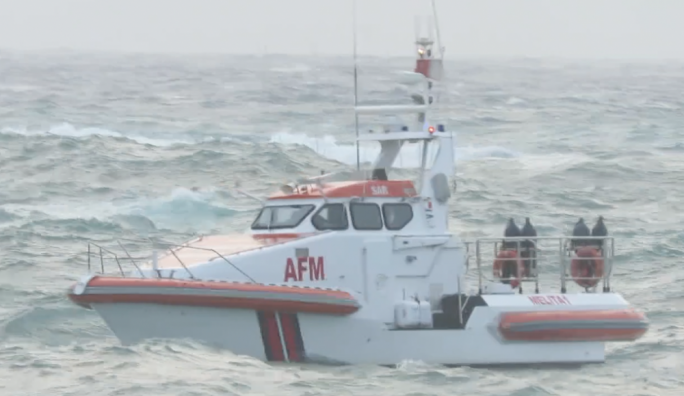 An AFM patrol boat is also out at sea to help in the search effort