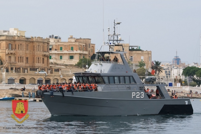 Armed Forces of Malta rescues 216 migrants at sea