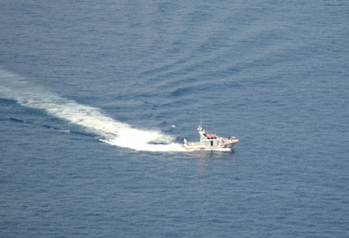 The AFM patrol boat Melita I was dispatched in the search mission off Dingli Cliffs