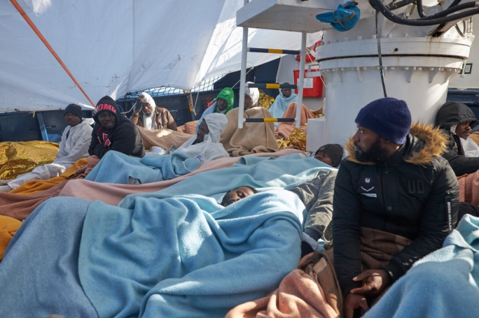 64 people, who were rescued off Libya's coast last week, are aboard the Alan Kurdi (Photo: Sea-Eye)