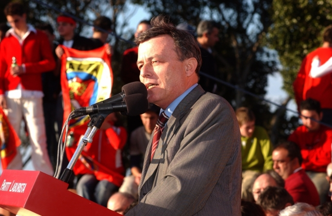 Alfred Sant in 2002 - Partnership, or opposition of EU membership, still has its supporters