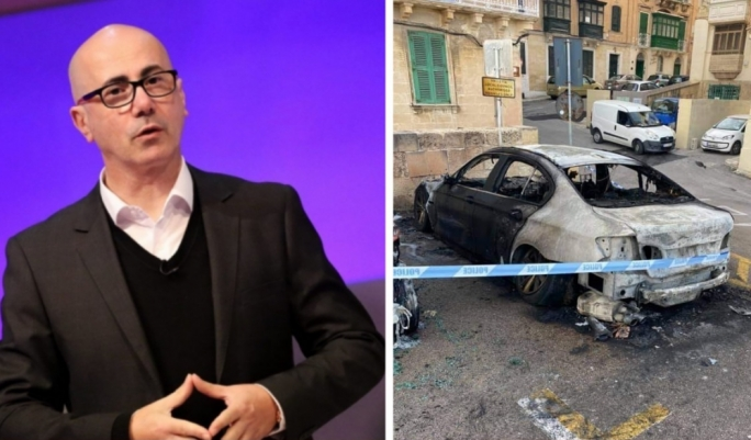 Valletta mayor and TV presenter Alfred Zammit had his car set on fire outside his house. The attack was one in a string of arsons that hit the capital this year.