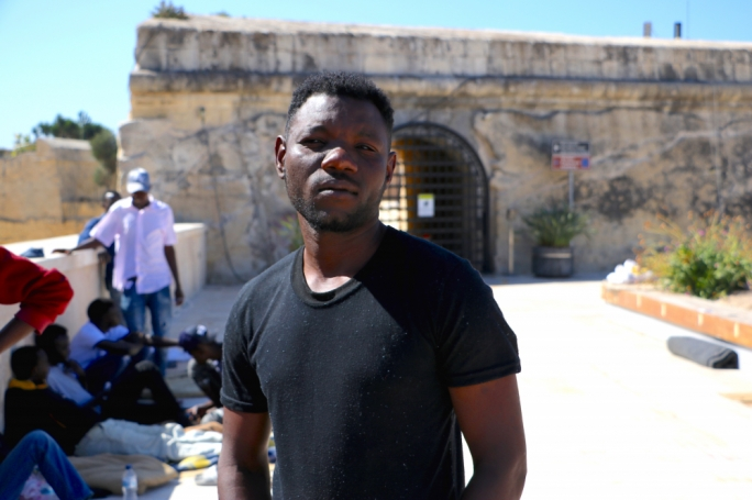 Ali Muhammad, one of several asylum seekers who say they have no State accommodation since arriving in Malta