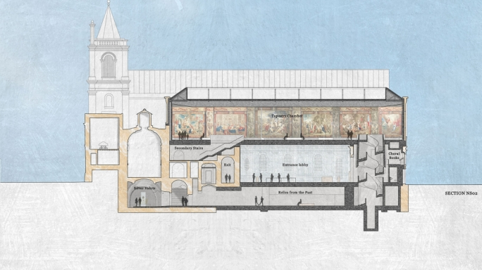 The museum's new entrance on Merchants' street will facilitate accessibility for the physically challenged