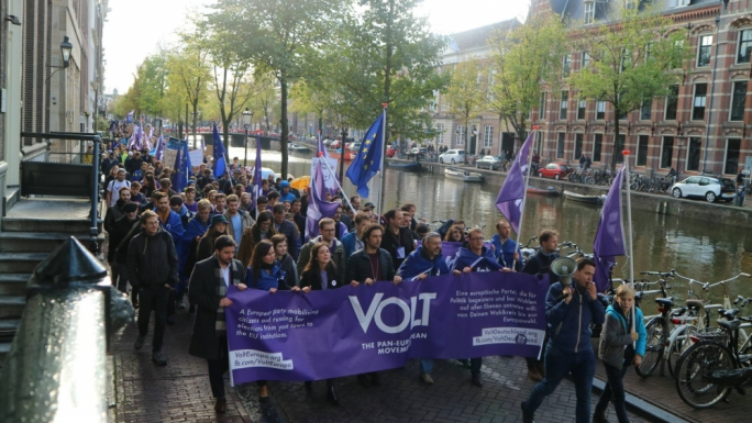 A Volt Europa general assembly in Amsterdam