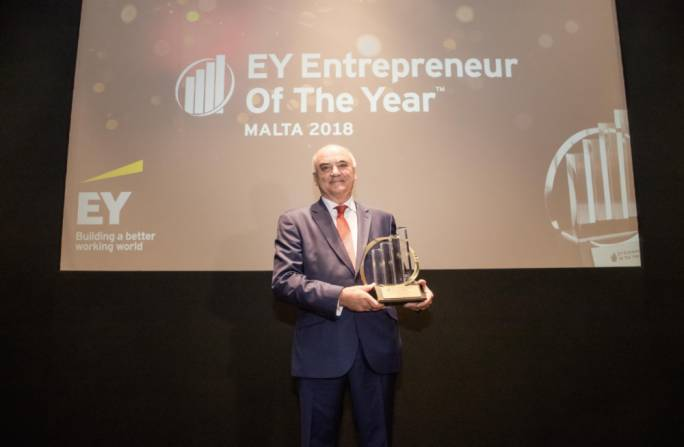 Angelo Xuereb awarded prestigious EY Malta Entrepreneur of the Year