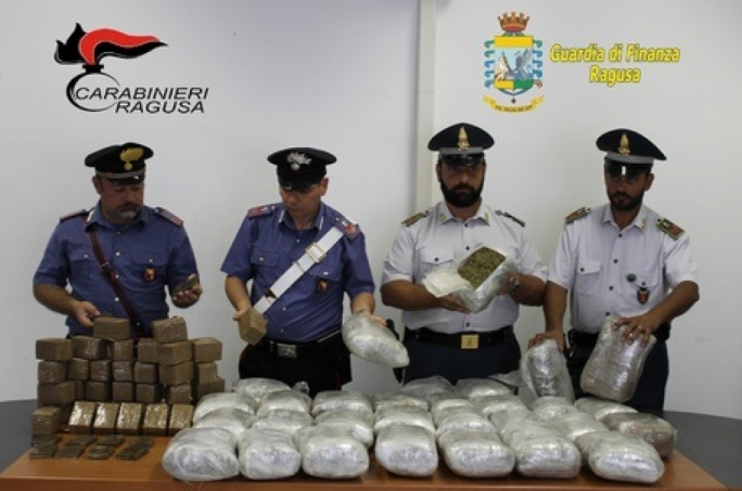 Over 50kg of Cannabis seized in Ragusa