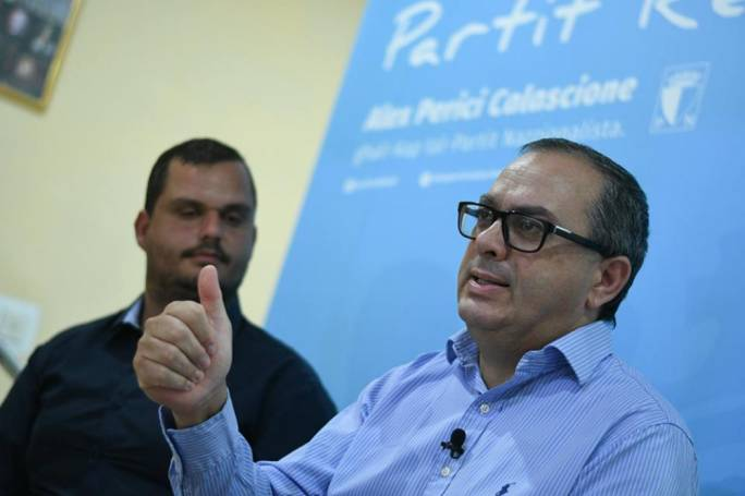 Alex Perici Calascione is one of four contenders vying for the position of PN leader