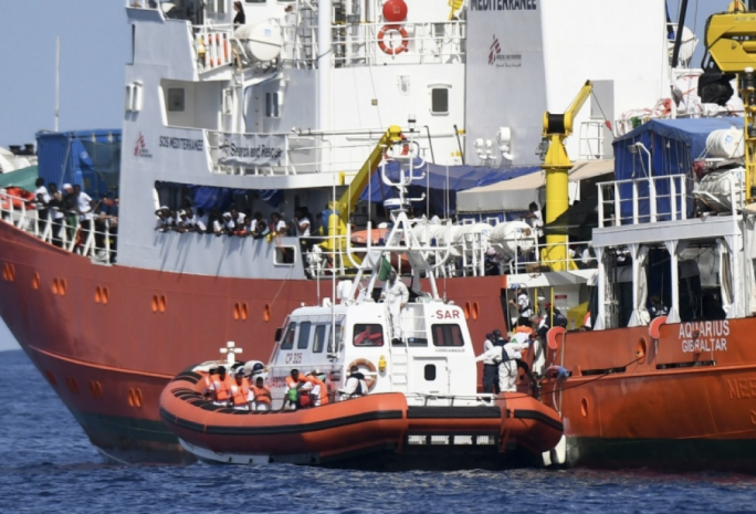 The Aquarius was diverted to Spain after disagreement on who should take on its 600-strong migrant complement