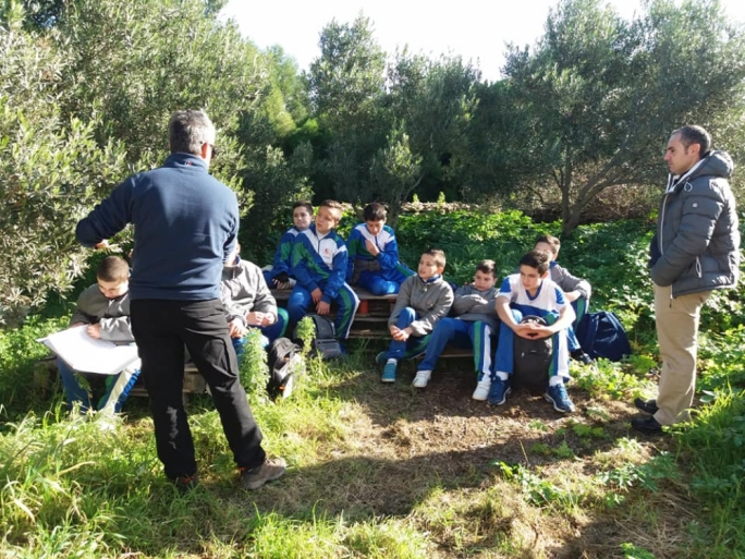 Students got some hands-on experience at Wied Għollieqa to mark Arbor Day