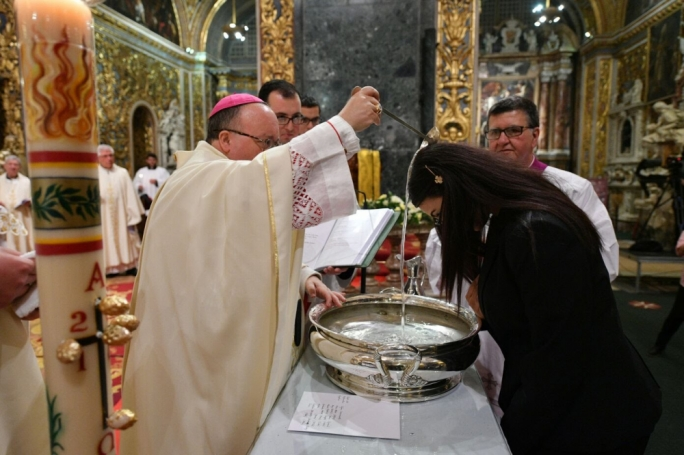 Archbishop Charles Scicluna will administer the sacraments to eight people who chose to become Catholic (Photo: Curia Communications Office/Ian Noel Pace)