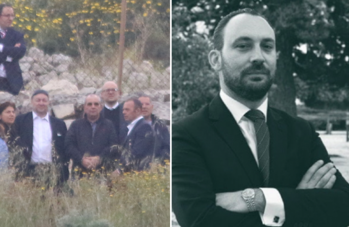 Vincent Muscat (third from left) had denied in October 2019 that he wanted to recant on his statement in April 2018 Melvin Theuma being the middleman in the Caruana Galizia assassination. His lawyer Arthur Azzopardi later dropped his brief