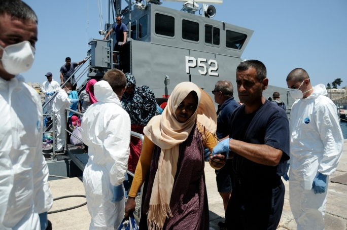 Malta's total refugee and irregular migrant arrivals in 2015: 105